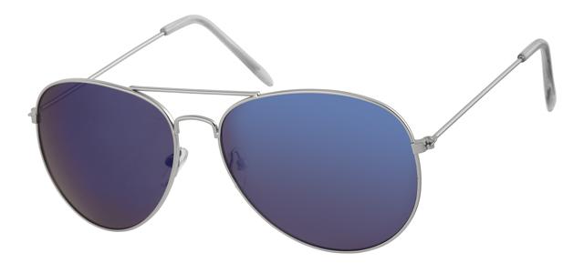 Piloten zonnebril - A30128-1 Lens Blauw Montuur Zilver
