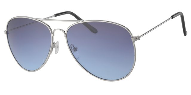 Piloten zonnebril - A30150-3 Lens Grijs|Blauw Montuur Zilver