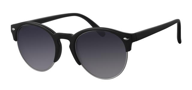 0c6fe4749c7282 Ronde clubmaster zonnebril - A40302-1 Lens Grijs Montuur Zilver