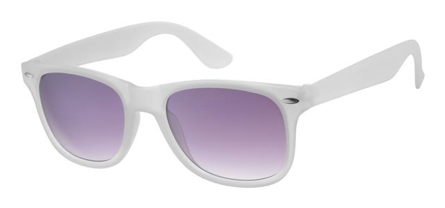 Wayfarer zonnebril - A40339-1 Lens Grijs Montuur Wit