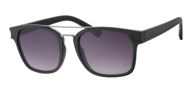 Wayfarer zonnebril - A40358-1 Lens Grijs Montuur Zwart