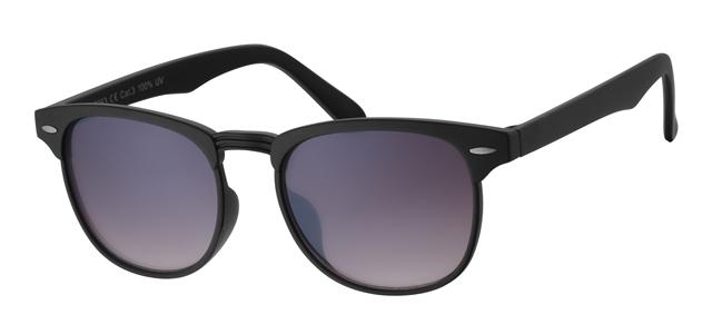 Clubmaster zonnebril - A40363-1 Lens Grijs Montuur Zwart
