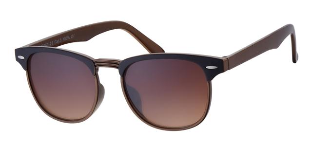 Clubmaster zonnebril - A40363-3 Lens Bruin Montuur Bruin