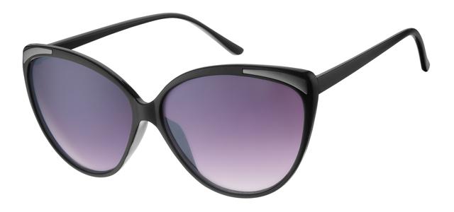 Cat eye zonnebril - A60694-2 Lens Grijs Montuur Zwart