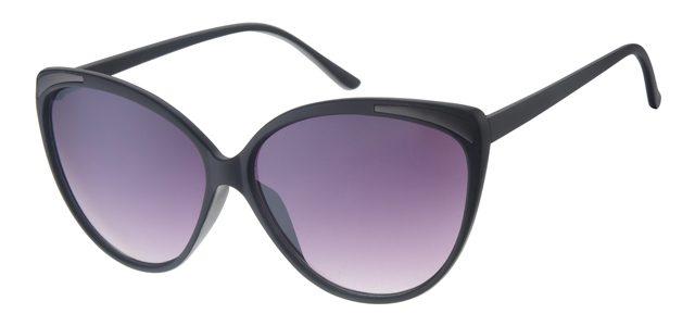 Cat eye zonnebril - A60694-3 Lens Grijs Montuur Zwart