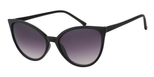 Cat eye zonnebril - A60738-1 Lens Grijs Montuur Zwart