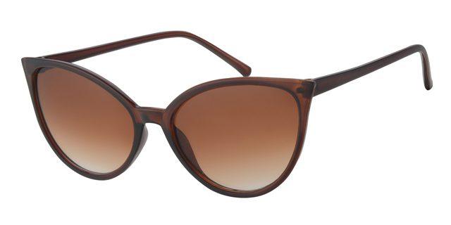 Cat eye zonnebril - A60738-2 Lens Bruin Montuur Bruin