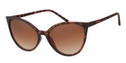 Cat eye zonnebril - A60738-3 Lens Bruin Montuur Oranje|Havana