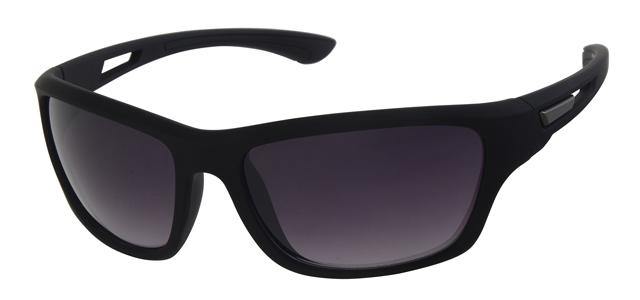 Sport zonnebril - A70128-1 Lens Grijs Montuur Zwart