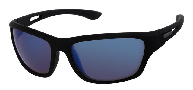 Sport zonnebril - A70128-3 Lens Blauw Montuur Zwart
