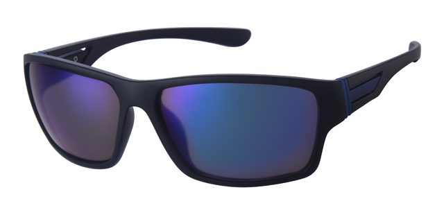 Sport zonnebril - A70130-1 Lens Blauw Montuur Zwart
