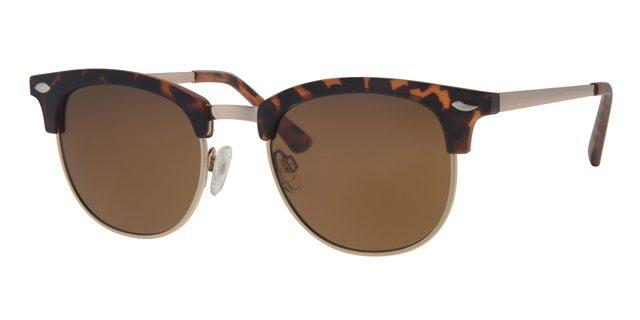Clubmaster zonnebril - L3206-2 Lens Bruin Montuur Bruin|Havana