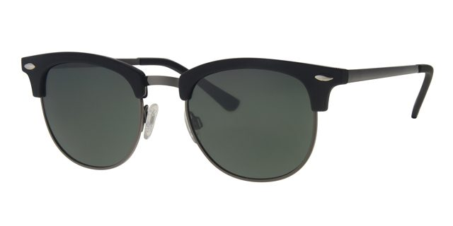 Clubmaster zonnebril - L3206-3 Lens Groen Montuur Zwart