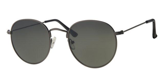 Ronde piloten zonnebril - L3215-1 Lens Groen Montuur Grijs