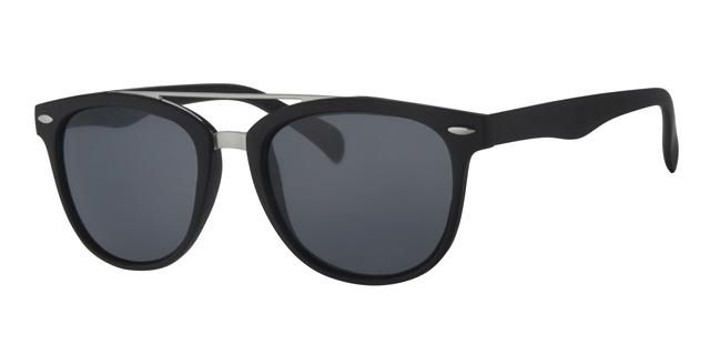 Wayfarer zonnebril - L4203-2 Lens Grijs Montuur Zwart