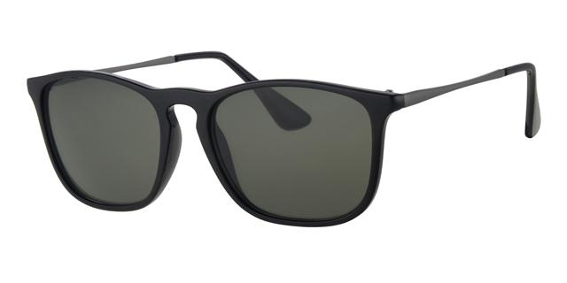 Wayfarer zonnebril - L4204-1 Lens Groen Montuur Zwart
