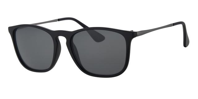Wayfarer zonnebril - L4204-3 Lens Grijs Montuur Zwart
