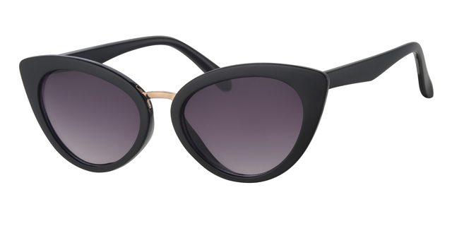Cat eye zonnebril - L6261-1 Lens Grijs Montuur Zwart