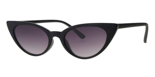 Cat eye zonnebril - L6268-1 Lens Grijs Montuur Zwart