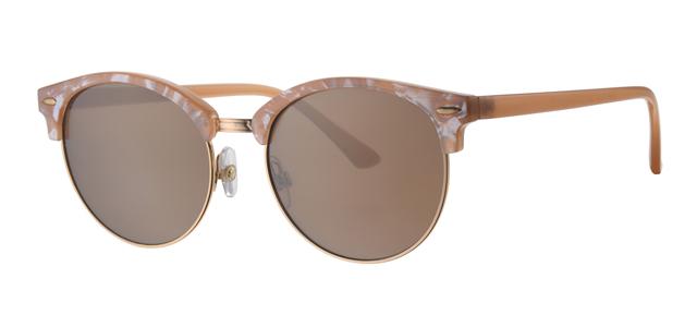 Clubmaster zonnebril - L6589-2 Lens Goud Montuur Beige