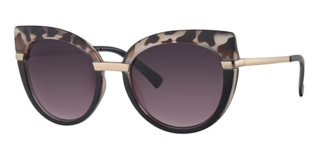 Cat eye zonnebril - L6600-2 Lens Grijs Montuur Zwart|Grijs|Havana