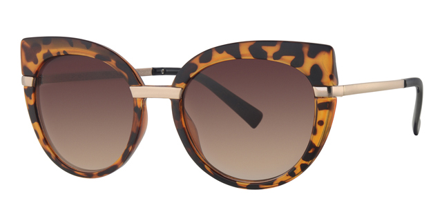 Cat eye zonnebril - L6600-3 Lens Bruin Montuur Bruin|Havana