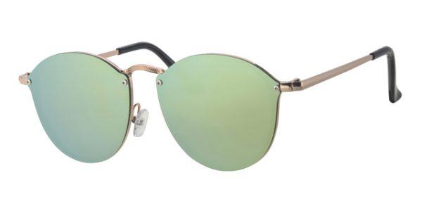 Ronde shield zonnebril - L6601-1 Lens Goud Montuur Goud