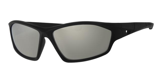 Sport zonnebril - L7093-1 Lens Zilver Montuur Zwart