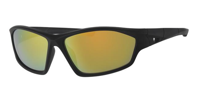 Sport zonnebril - L7093-3 Lens Rood Montuur Zwart