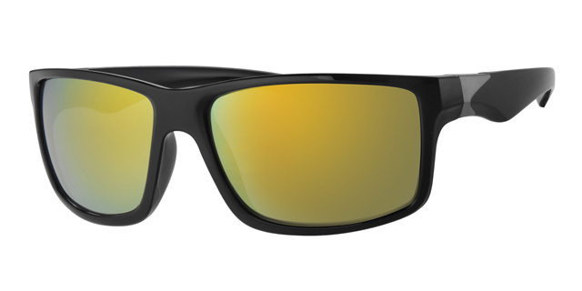 Sport zonnebril - L7094-1 Lens Rood Montuur Zwart