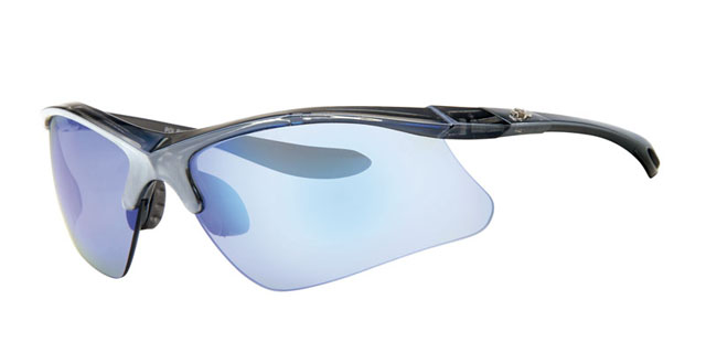 Ski zonnebril - POLRX7027 Lens Blauw Montuur Zilver|Zwart