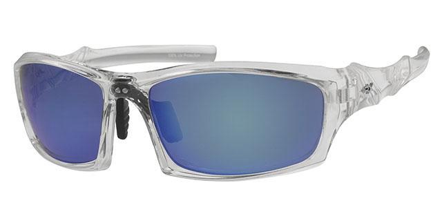 Ski zonnebril - POLRX7029 Lens Grijs Montuur Transparant