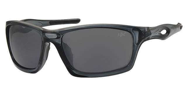 Ski zonnebril - POLRX7030 Lens Grijs Montuur Transparant|Zwart