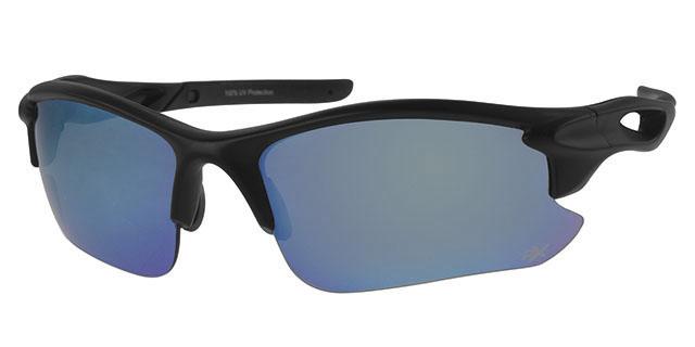Ski zonnebril - POLRX7031 Lens Blauw Montuur Zwart