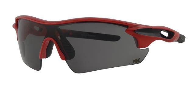 Ski zonnebril - POLRX7037 Lens Grijs Montuur Rood